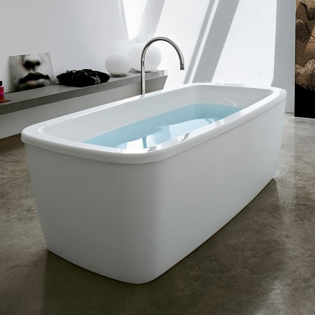 LAUFEN Palomba Freistehende Oval-Badewanne weiß