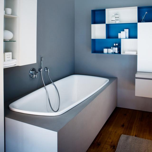 LAUFEN Palomba Oval-Badewanne, Einbau weiß
