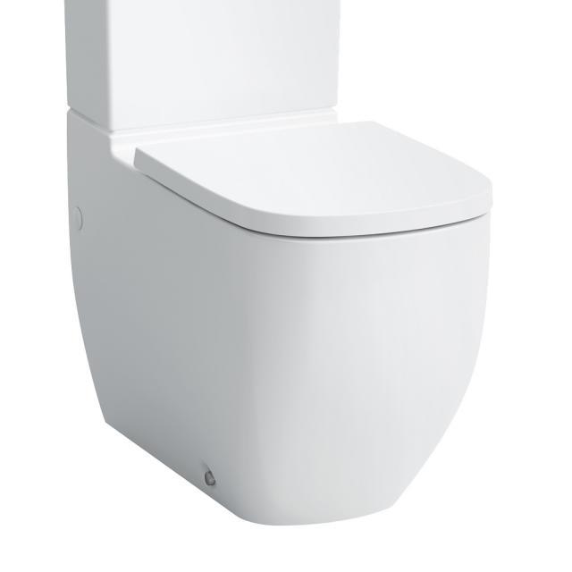 Laufen Palomba Stand-Tiefspül-WC-Kombination, spülrandlos weiß, mit CleanCoat