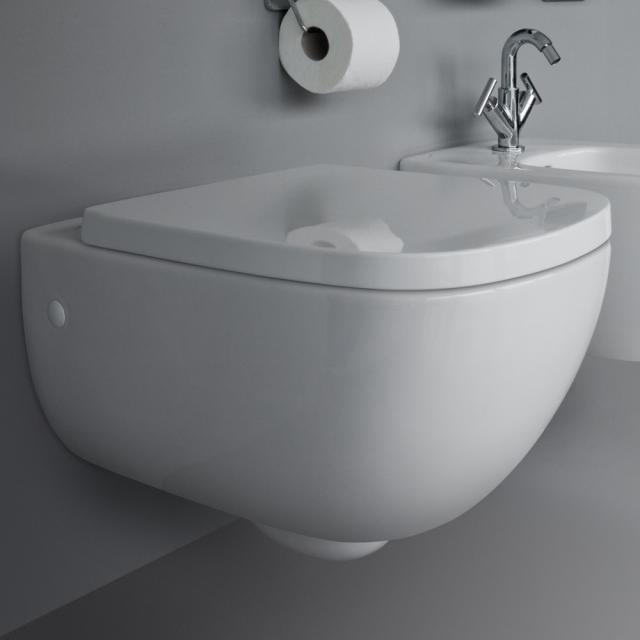 Laufen Palomba Wand-Tiefspül-WC ohne Spülrand, weiß, mit CleanCoat