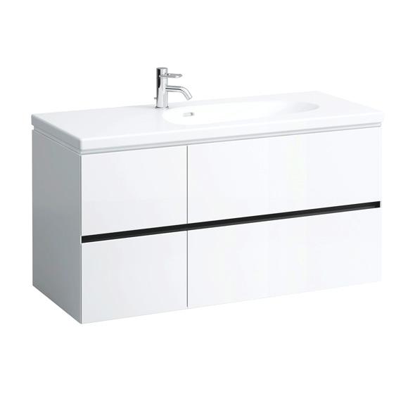 LAUFEN Palomba Waschtischunterschrank mit 4 Auszügen Front weiß / Korpus weiß