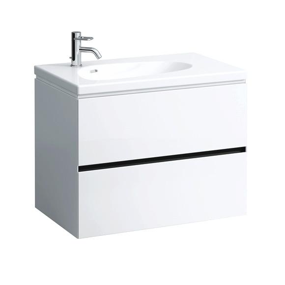 LAUFEN Palomba Waschtischunterschrank mit 2 Auszügen Front weißt / Korpus weiß