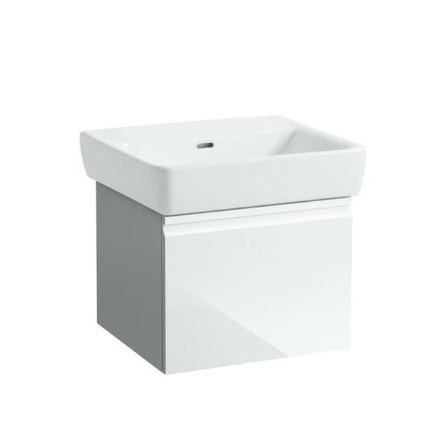Laufen Pro A Waschtisch mit Waschtischunterschrank mit 1 Auszug weiß, ohne Hahnloch
