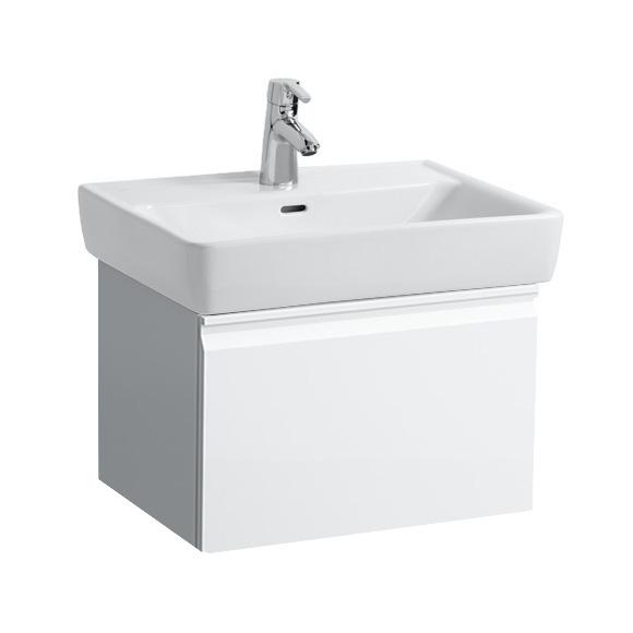 Laufen Pro A Waschtisch mit Waschtischunterschrank mit 1 Auszug weiß, mit Clean Coat, mit 1 Hahnloch