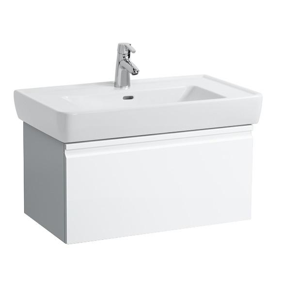 LAUFEN Pro A Waschtischunterschrank mit 1 Auszug Front weiß glanz / Korpus weiß glanz, mit Innenschublade