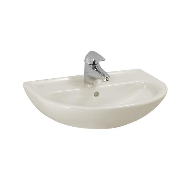 Laufen Pro B Handwaschbecken pergamon, mit Überlauf, mit 1 Hahnloch