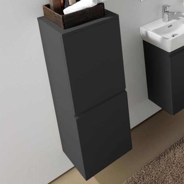 LAUFEN Pro Halbhochschrank mit 1 Tür Front graphit / Korpus graphit