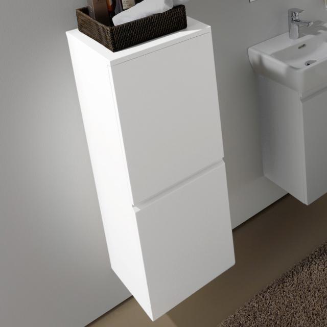 LAUFEN Pro Halbhochschrank mit 1 Tür Front weiß matt / Korpus weiß matt