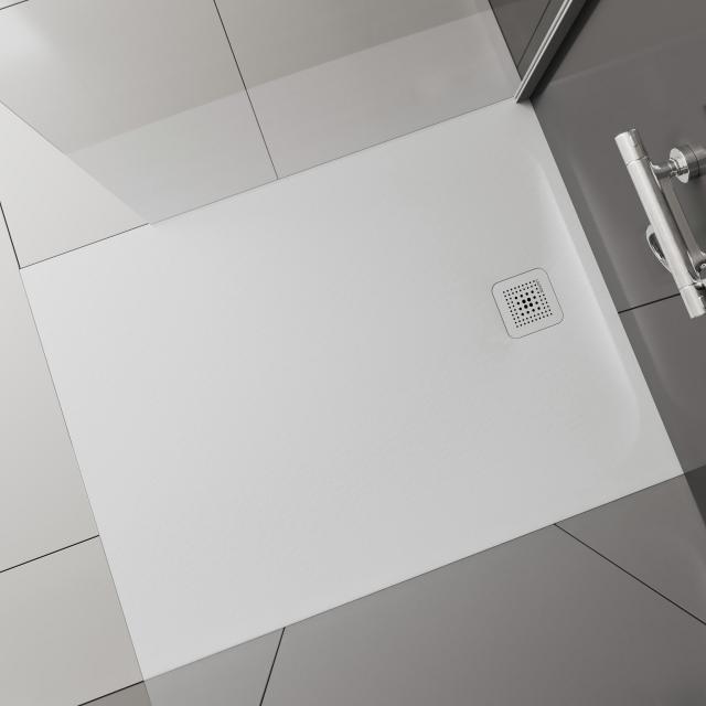 LAUFEN Pro Rechteck-Duschwanne, Ablauf auf der kleinen Seite weiß matt