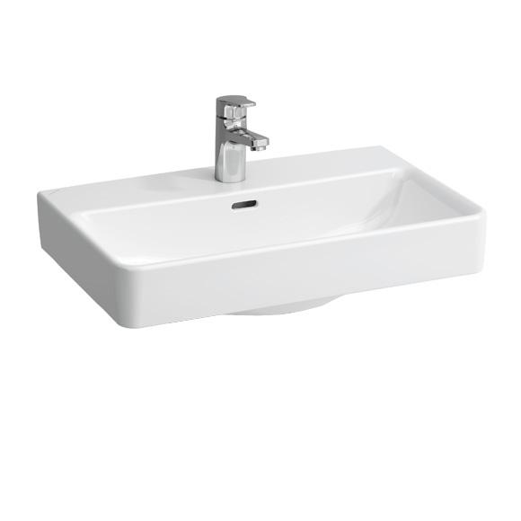 LAUFEN Pro S Compact Waschtisch weiß, mit Clean Coat, mit 1 Hahnloch, ungeschliffen, mit Überlauf