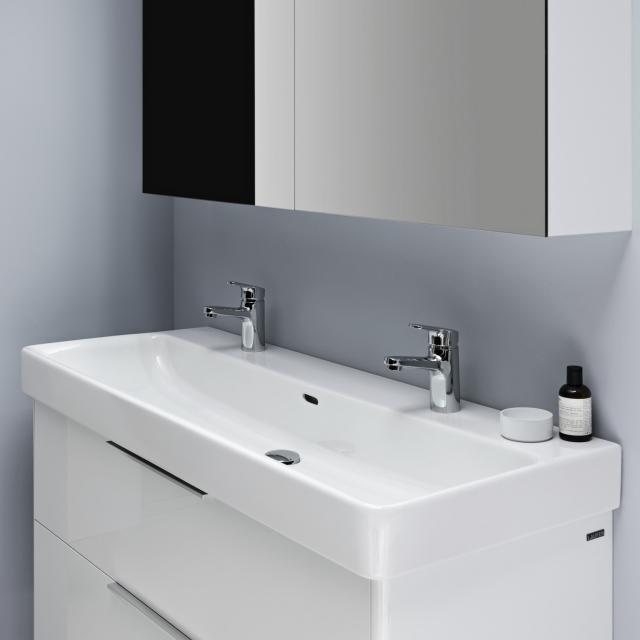 LAUFEN Pro S Waschtisch weiß, mit Clean Coat, mit 2 Hahnlöchern, ungeschliffen, mit Überlauf