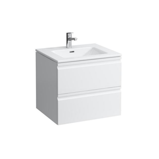LAUFEN Pro S Waschtisch mit Waschtischunterschrank mit 2 Auszügen Front weiß matt / Korpus weiß matt, mit 1 Hahnloch