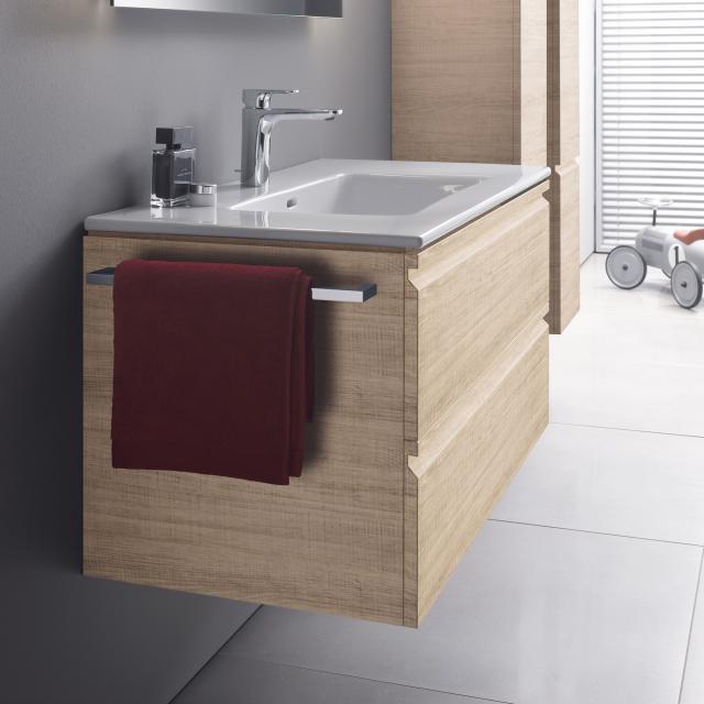 LAUFEN Pro S Waschtisch mit Waschtischunterschrank mit 2 Auszügen Front eiche hell / Korpus eiche hell, mit 1 Hahnloch