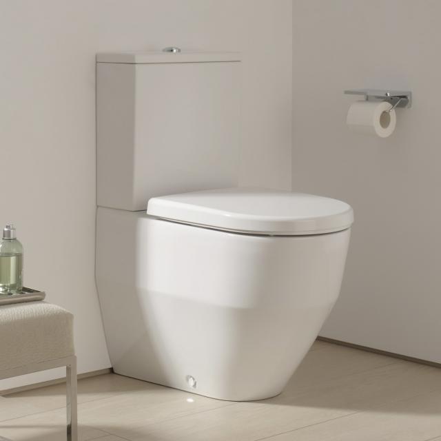 Laufen Pro Stand-Tiefspül-WC für Kombination, wandbündig mit Spülrand, weiß