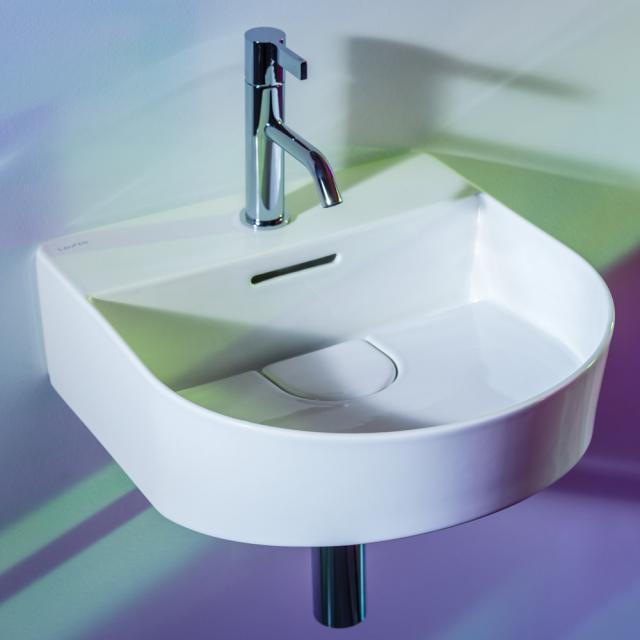 LAUFEN SONAR Handwaschbecken weiß, mit Hahnloch, ungeschliffen