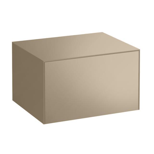 LAUFEN SONAR Sideboard mit 1 Auszug Front gold / Korpus gold, Abdeckplatte gold
