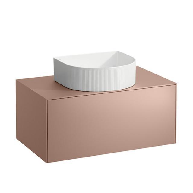 LAUFEN SONAR Waschtischunterschrank mit 1 Auszug für Aufsatzwaschtisch Front kupfer / Korpus kupfer, Abdeckplatte kupfer, ohne Hahnlochbohrung