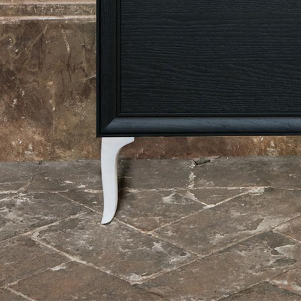 Laufen The New Classic Füße (2 Stück) für Badmöbel weiß glanz