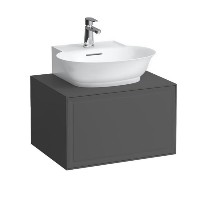 Laufen The New Classic Handwaschbeckenunterschrank mit 1 Auszug Front verkehrsgrau / Korpus verkehrsgrau
