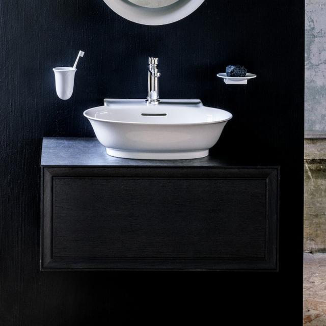 LAUFEN The New Classic Handwaschbeckenunterschrank mit 1 Auszug Front eiche geschwärzt / Korpus eiche geschwärzt
