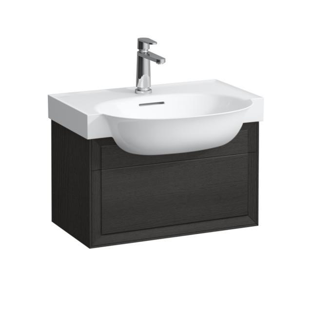 LAUFEN The New Classic Waschtischunterschrank mit 1 Auszug Front eiche geschwärzt / Korpus eiche geschwärzt