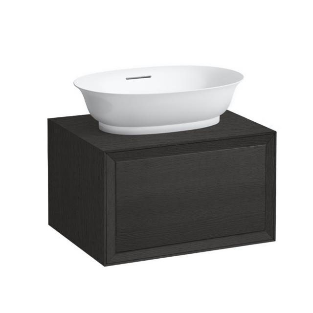 LAUFEN The New Classic Waschtischunterschrank für Aufsatzwaschtisch mit 1 Auszug Front eiche geschwärzt / Korpus eiche geschwärzt