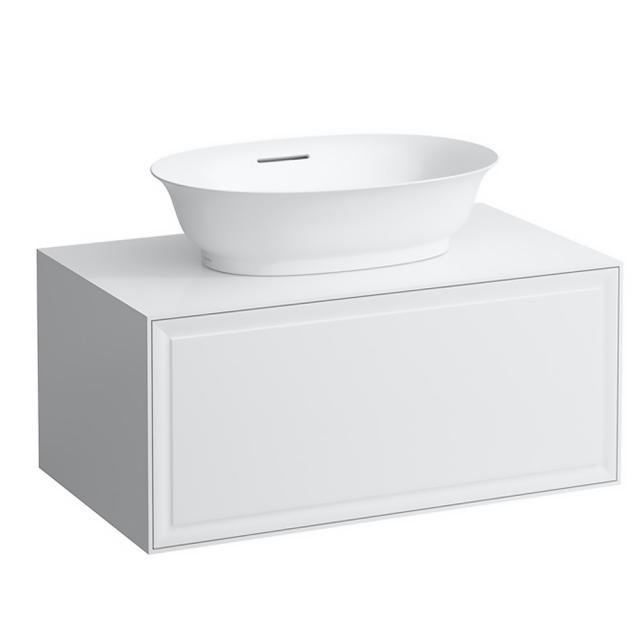 Laufen The New Classic Waschtischunterschrank für Aufsatzwaschtisch mit 1 Auszug Front weiß glanz / Korpus weiß glanz
