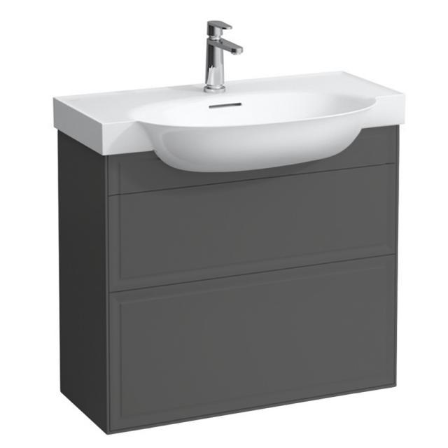 Laufen The New Classic Waschtischunterschrank mit 2 Auszügen Front verkehrsgrau / Korpus verkehrsgrau