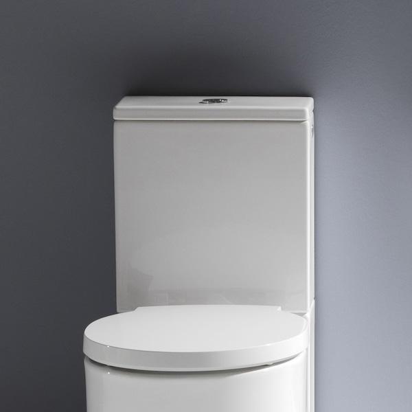 Laufen VAL Aufsatzspülkasten weiß Wasseranschluss seitlich, weiß
