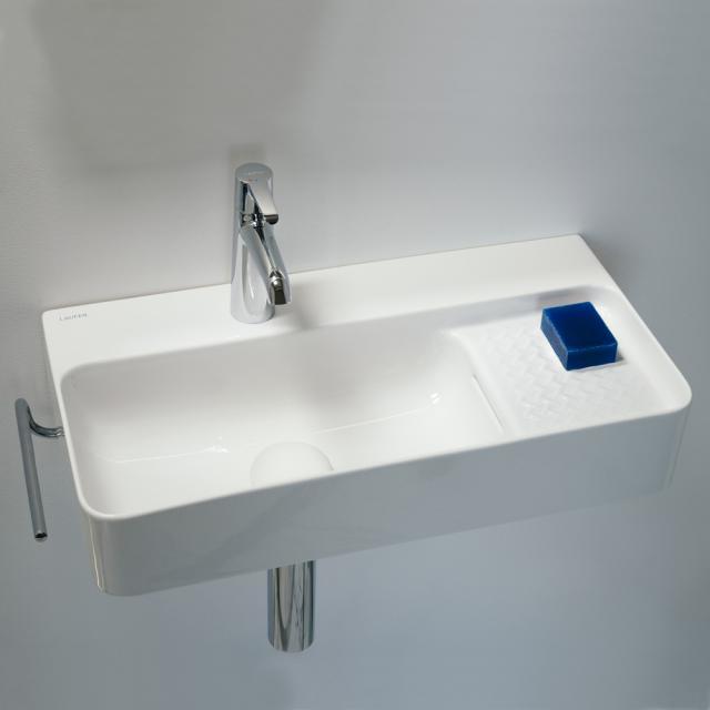 Laufen VAL Waschtisch Compact weiß mit Clean Coat, mit 1 Hahnloch, mit Überlauf, geschliffen