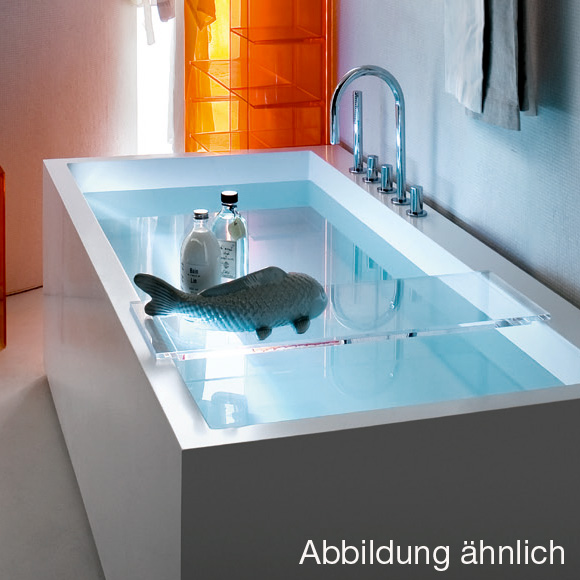Kartell by laufen ablage f r badewanne rauchgrau - Ablage badewanne ...