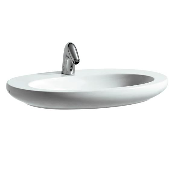 Aufsatzwaschbecken oval mit hahnloch  Laufen Alessi One Aufsatzwaschtisch weiß mit 1 Hahnloch ...