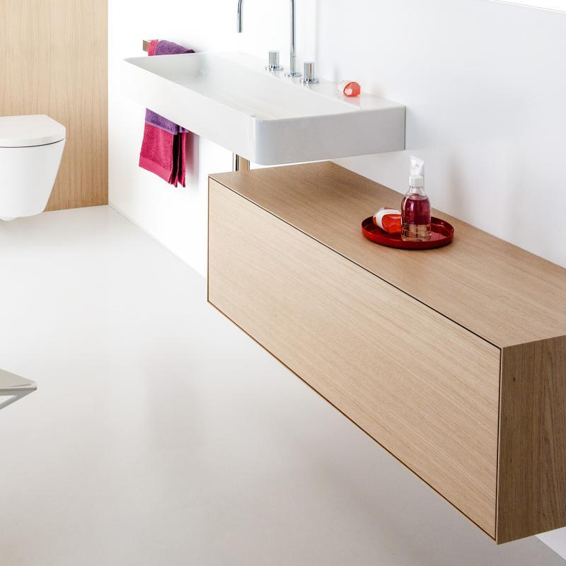 laufen boutique waschtischunterschrank mit 1 auszug ohne ausschnitt front eiche hell korpus. Black Bedroom Furniture Sets. Home Design Ideas