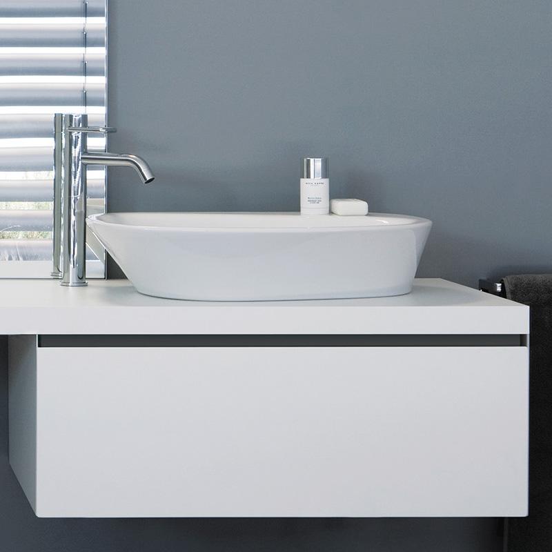 laufen palomba waschtisch schale wei ohne hahnloch mit berlauf h8168030001091 reuter. Black Bedroom Furniture Sets. Home Design Ideas