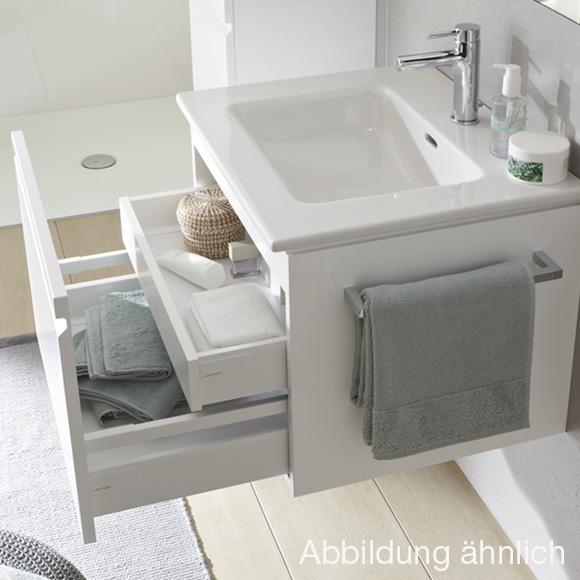 Laufen pro S Waschtisch mit Waschtischunterschrank mit 1 Auszug ... | {Waschtischplatte mit schublade 50}