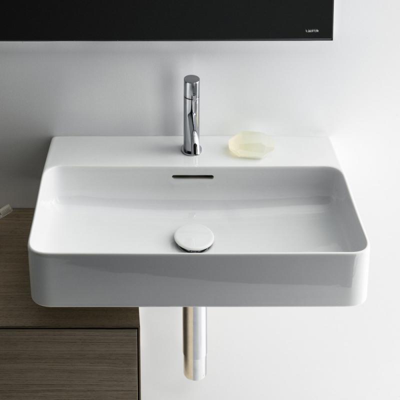 laufen val waschtisch wei mit 1 hahnloch ungeschliffen mit berlauf h8102830001041 reuter. Black Bedroom Furniture Sets. Home Design Ideas