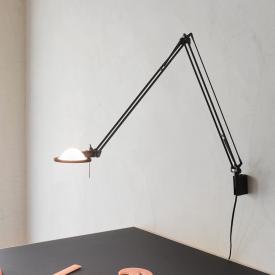 Luceplan Berenice Wandleuchte, Arm: 30+30 cm mit Glasreflektor