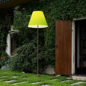 Luceplan Grande Costanza Open Air Stehleuchte mit Erdspieß, rost
