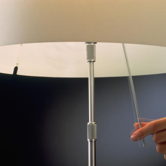 Luceplan Costanza Stehleuchte mit Ein/Aus-Schalter und Teleskopstange