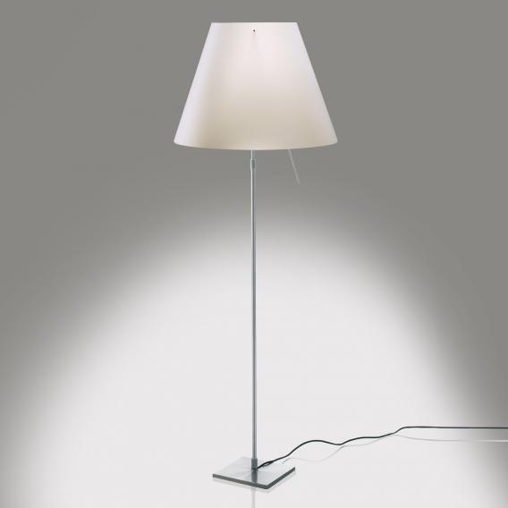 Luceplan Costanza LED Stehleuchte mit Dimmer, Teleskopstange, Fuß aluminium
