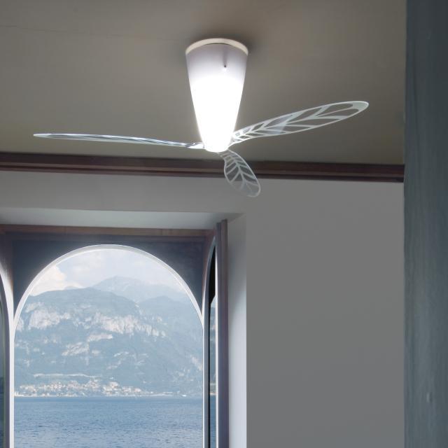 LUCEPLAN Blow D28 Deckenleuchte mit Ventilator und Siebdruck