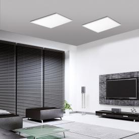 Leuchten Direkt Flat RGBW LED Deckenleuchte mit Dimmer