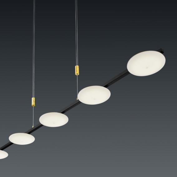 luce elevata pure up LED Pendelleuchte, 5-flammig