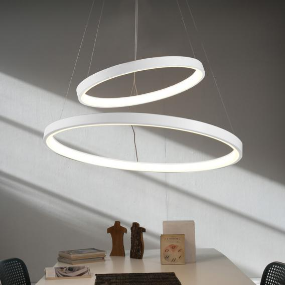 Martinelli Luce Lunaop LED Pendelleuchte mit Dimmer, 2-flammig