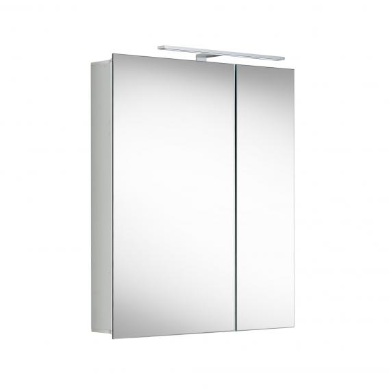 Matedo Entry SPS Spiegelschrank mit LED-Beleuchtung mit 2 Türen asymmetrisch