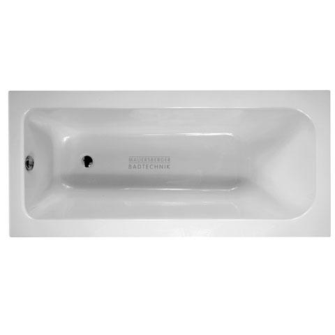 Mauersberger caudex Rechteck Badewanne weiß