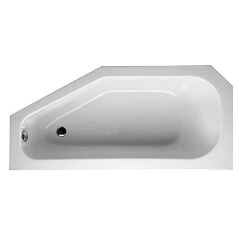 Mauersberger bursea Raumspar Badewanne, rechts weiß