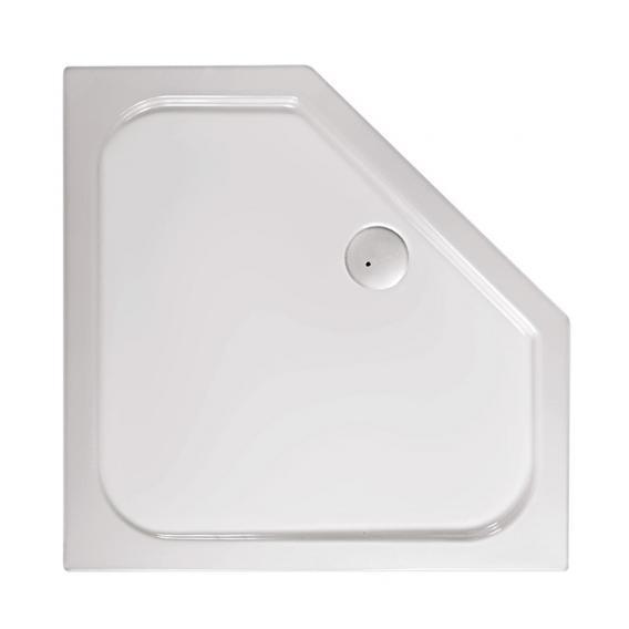 Mauersberger ceptor 90/40 tief Fünfeck Duschwanne  L: 90 B: 90 H: 14 cm weiß