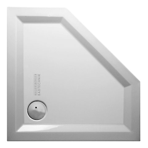 Mauersberger ceptor 90/45 superflach Fünfeck-Duschwanne weiß