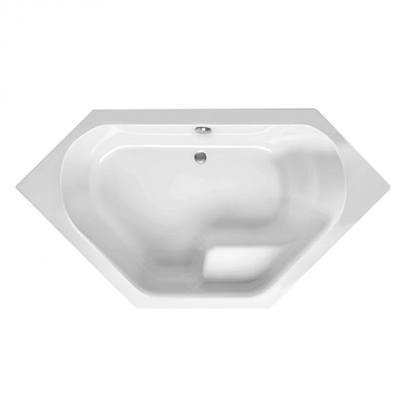 Mauersberger fascia  Sechseck-Badewanne, Einbau weiß